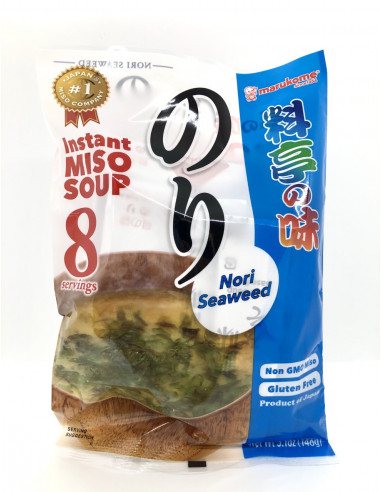 MARUKOME INSTANT MISO SOUP WITH NORI SEAWEED - 146g