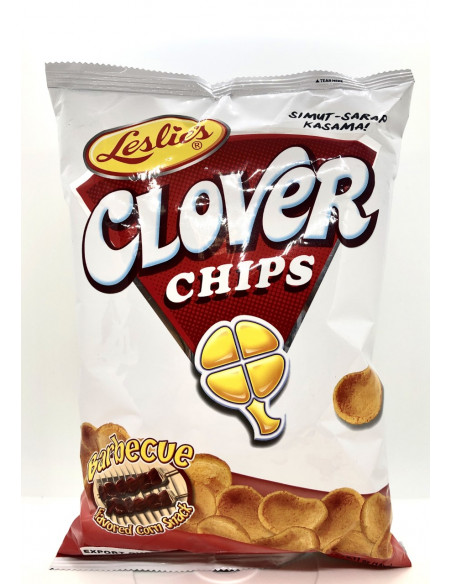 LESLIE'S CLOVER CHIPS BARBECUE FLAVOUR CORN SNACK - 145g