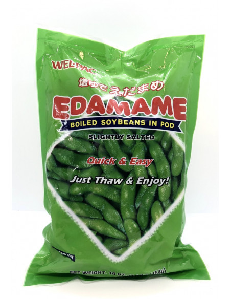 WEL.PAC EDAMAME BOILED SOYBEANS IN POD SLIGHTLY SALTED - 454g