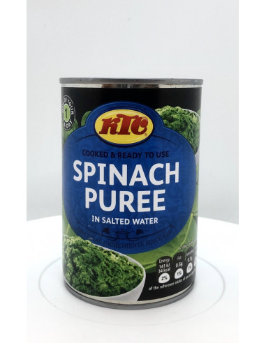 KTC SPINACH PUREE IN SALTED WATER - 395g