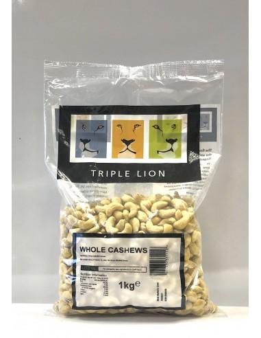 TRIPLE LION WHOLE CASHEW NUTS - 1kg