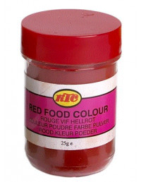 KTC FOOD COLOUR RED - 25g