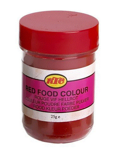 KTC FOOD COLOUR RED - 25g