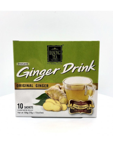RANONG TEA GINGER DRINK ORIGINAL - 10X10g