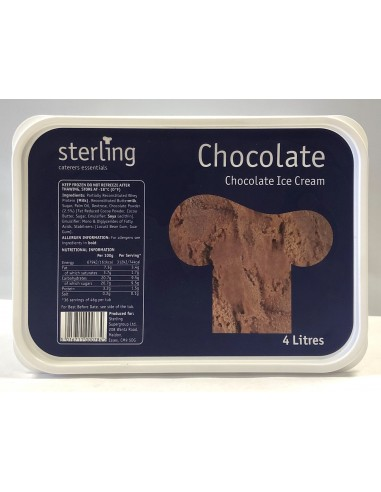 STERLING CHOCOLATE ICE CREAM - 4L