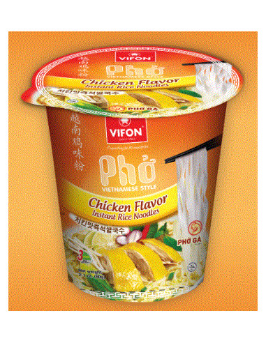 PHO VIETNAMESE STYLE CHICKEN FLAVOR INSTANT RICE NOODLES - 60g
