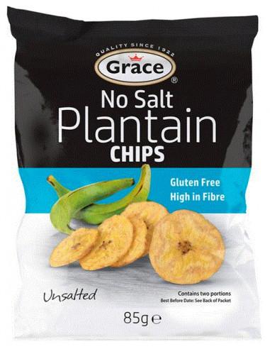 Grace Plantain Chips No Salt - 85g