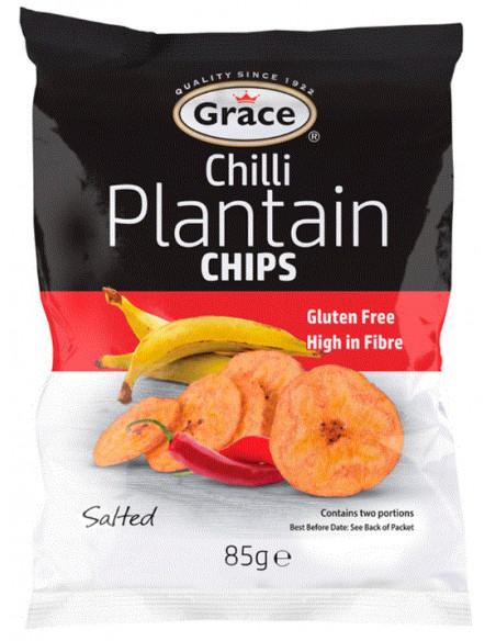GRACE PLANTAIN CHIPS CHILLI - 85g