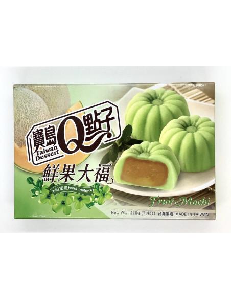 TAIWAN DESSERT FRUIT MOCHI HAMI MELON FLAVOUR - 210g