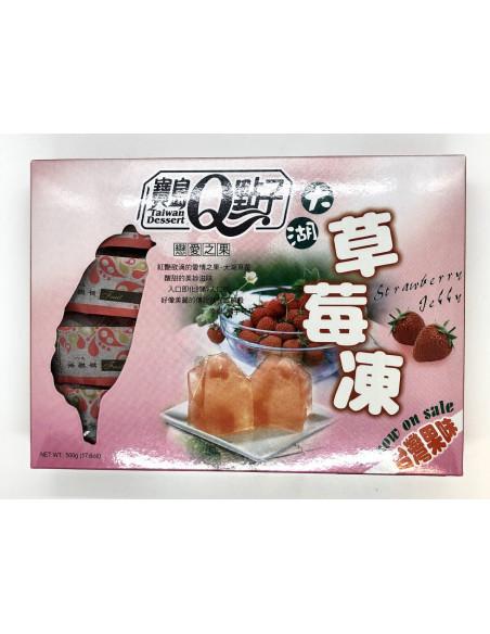 TAIWAN DESSERT JELLY STRAWBERRY FLAVOUR - 500g