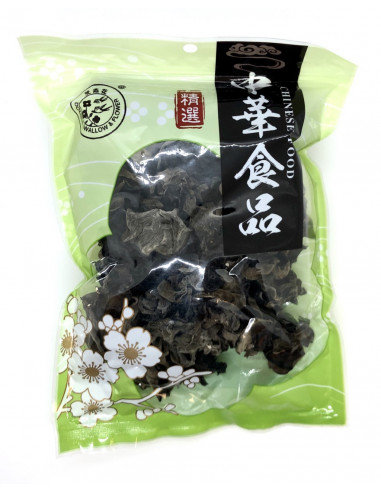 DOUBLE SWALLOW FLOWER DRIED BLACK FUNGUS - 100g