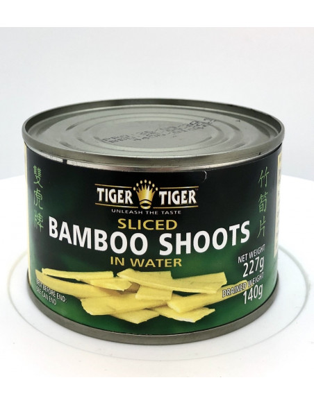 TIGER TIGER SLICED BAMBOO SHOOTS IN WATER - 227g