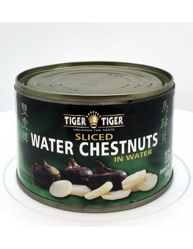 TIGER TIGER SLICED WATER CHESTNUTS IN WATER - 227g