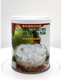 TAS BRAND YOUNG COCONUT MEAT AND TAPIOCA PEARL IN COCONUT MILK - 242g