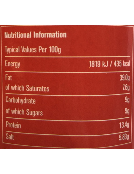 Nutritional Info - PINOY'S GINISANG BAGOONG SWEET FLAVOUR - 340g
