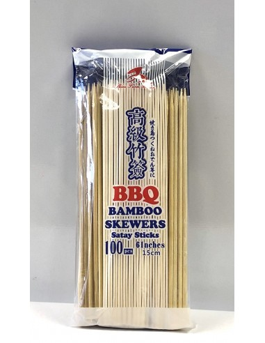 BAMBOO SKEWERS 15CM/6INCH - 100S