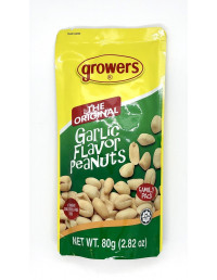 GROWERS THE ORIGINAL GARLIC FLAVOUR PEANUTS - 80g