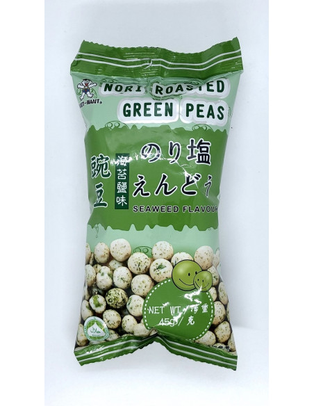WANT WANT NORI ROASTED GREEN PEAS SEAWEED FLAVOUR - 45g