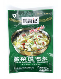 ZHOUJUNJI PICKLED CABBAGE FISH SEASONING - 180g
