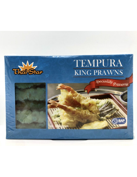 THAI STAR TEMPURA KING PRAWNS - 500g