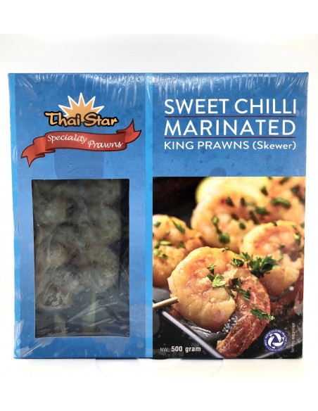 THAI STAR SWEET CHILLI KING PRAWN SKEWER - 500g