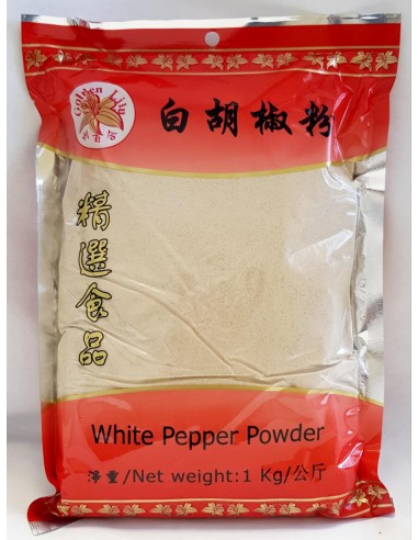 GOLDEN LILY WHITE PEPPER POWDER - 1KG