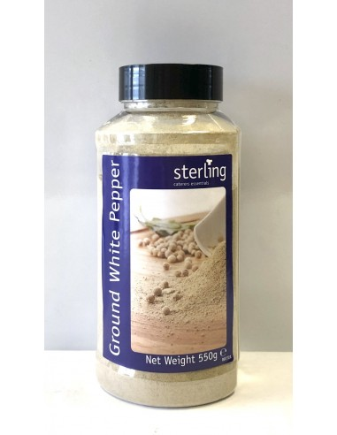STERLING GROUND WHITE PEPPER - 550g