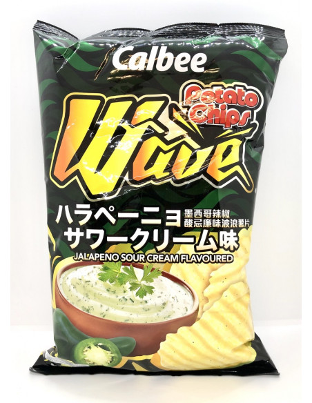 CALBEE JALAPENO SOUR CREAM FLAVOURED POTATO CHIPS - 190g