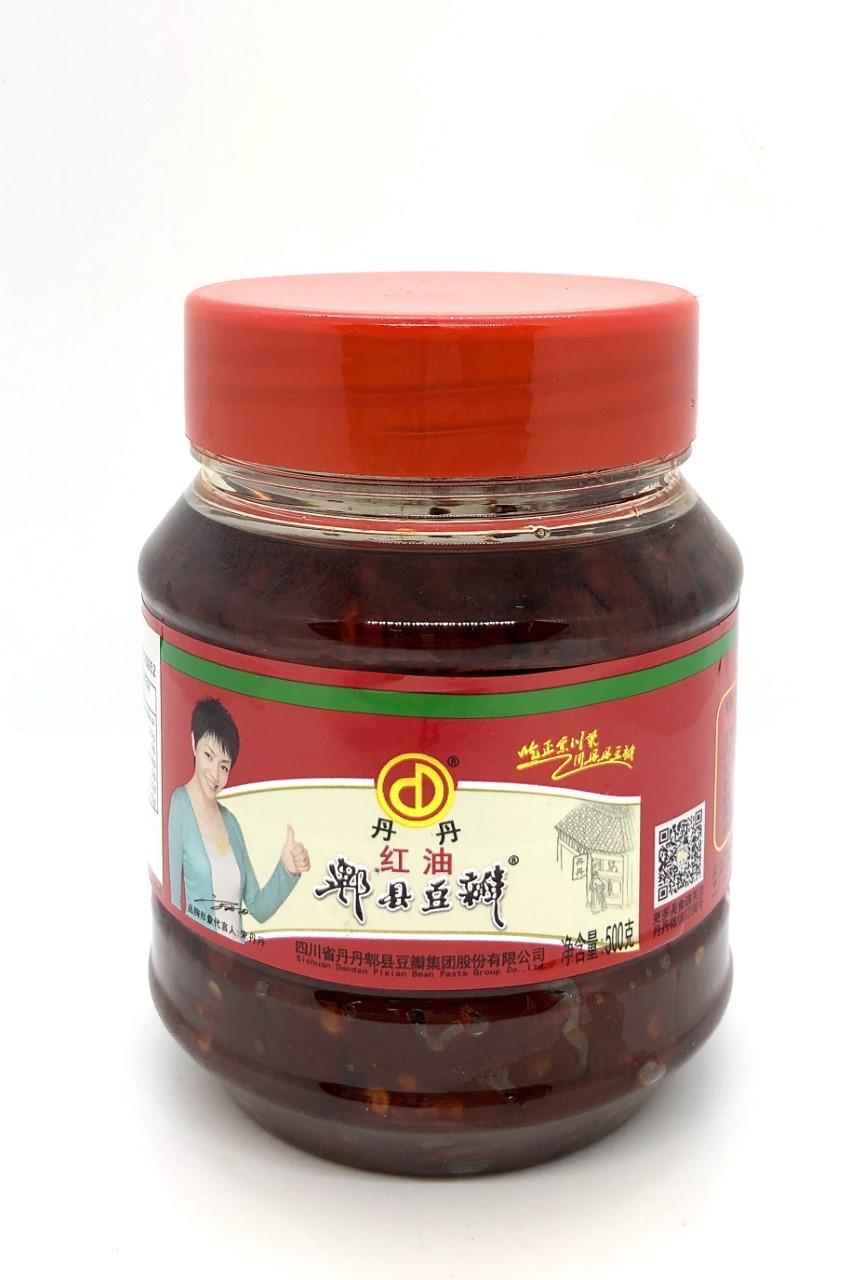 dan dan pixian broad bean paste with chilli oil  500g