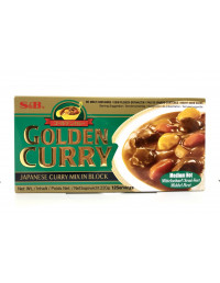 S&B GOLDEN CURRY MEDIUM HOT CURRY MIX IN BLOCK - 220g