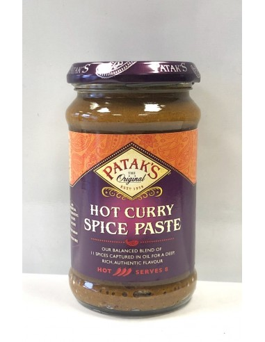 PATAK'S HOT CURRY SPICE PASTE - 283g