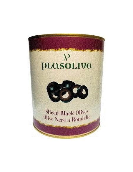 Black Sliced Olives - Plasoliva