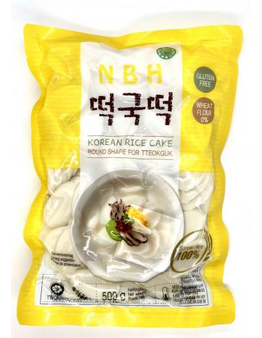 NBH KOREAN RICE CAKE ROUND SHAPE FOR TTEOKGUK - 500g