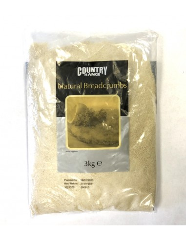 COUNTRY RANGE NATURAL BREADCRUMBS - 3KG