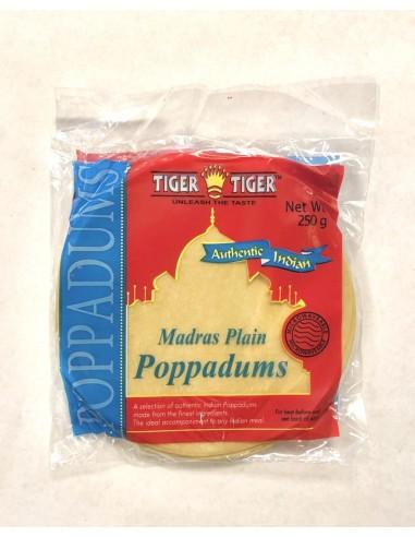 TIGER TIGER PLAIN POPPADUMS - 250g