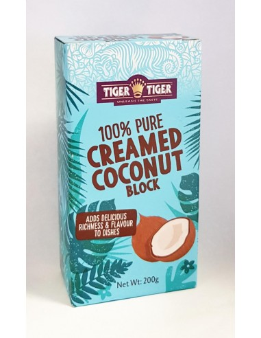 TIGER TIGER CREAMED COCONUT BLOCK - 200g