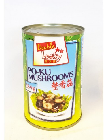 DOUBLE LUCKY PO-KU MUSHROOMS- 284g